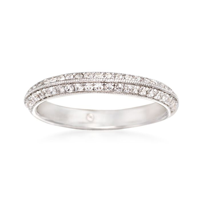 Gabriel Designs .36 ct. t.w. Diamond Wedding Ring in 14kt White Gold