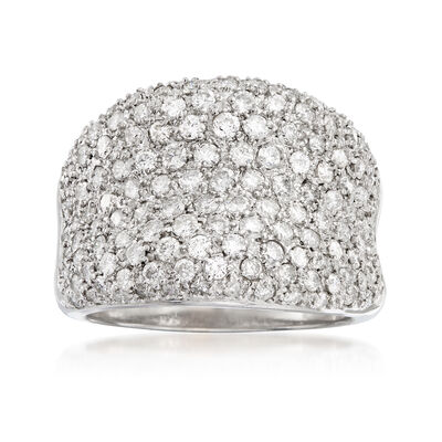 C. 1990 Vintage 2.70 ct. t.w. Pave Diamond Ring in 18kt White Gold, , default