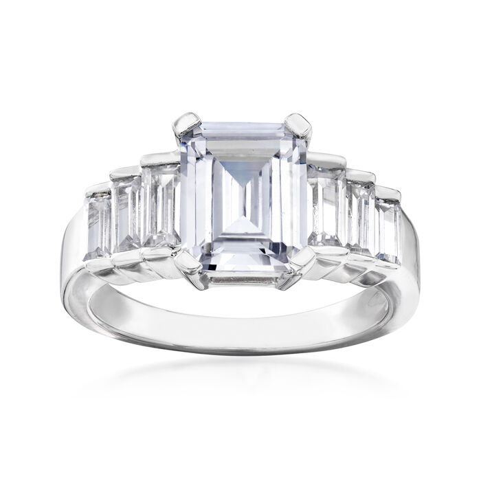 3.60 ct. t.w. CZ Ring in Sterling Silver