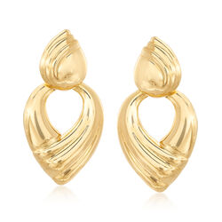 Italian Andiamo 14kt Yellow Gold Doorknocker Earrings , , default