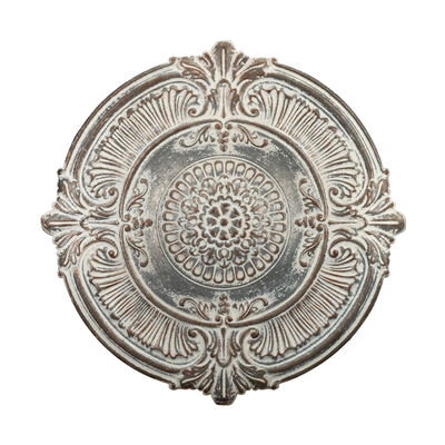 Regal White Medallion Metal Outdoor Wall Decor, , default