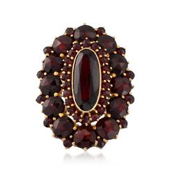 C. 1940 Vintage 5.00 ct. t.w. Garnet Cluster Ring in 10kt Yellow Gold. Size 6, , default