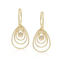 "Roberto Coin ""Mauresque"" 18kt Yellow Gold Earrings With Diamond Accents, , default"