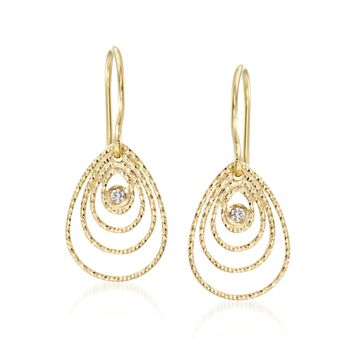 """Roberto Coin """"Mauresque"""" 18kt Yellow Gold Earrings With Diamond Accents, , default"""