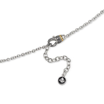 """Andrea Candela Diamond Accent Floral Pendant Necklace in 18kt Yellow Gold and Sterling Silver. 18"""", , default"""