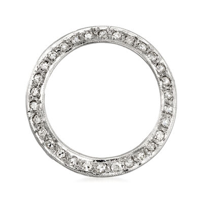C. 1970 Vintage .50 ct. t.w. Diamond Eternity Circle Pin in 14kt White Gold