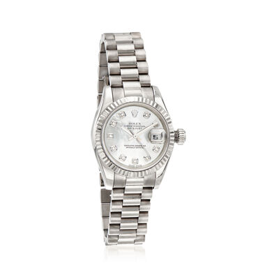 Pre-Owned Rolex Datejust Women's 26mm Automatic 18kt White Gold Watch, , default