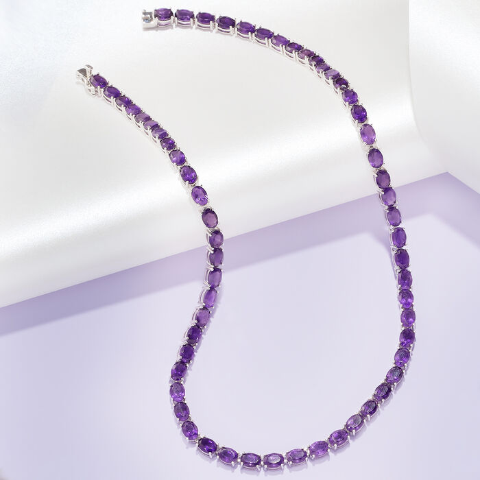 1.65 Carat Amethyst Pendant Necklace with Diamond Accents in 14kt Rose Gold