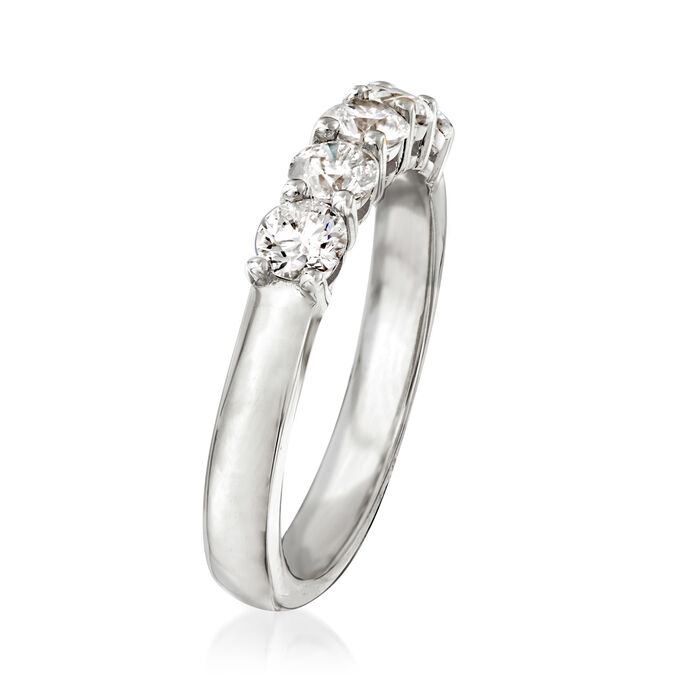 1.00 ct. t.w. Diamond Five-Stone Ring in 14kt White Gold