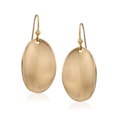 Roberto Coin 18kt Yellow Gold Oval Drop Earrings, , default
