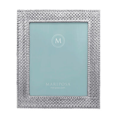 "Mariposa ""Palmy Nights"" Basketweave 8x10 Frame"