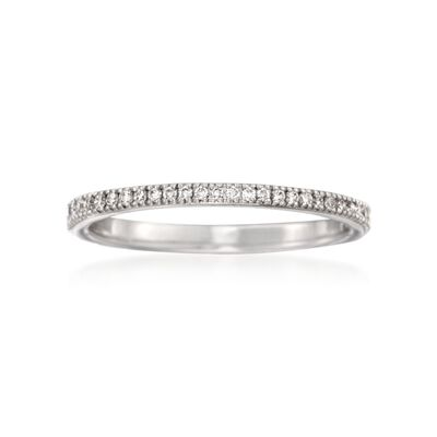 Simon G. .17 ct. t.w. Diamond Wedding Ring in 18kt White Gold