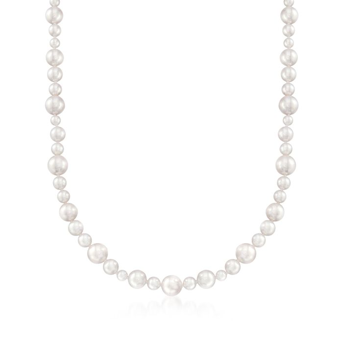 Mikimoto 4.5-8.5mm A1 Akoya Pearl Necklace with 18kt White Gold