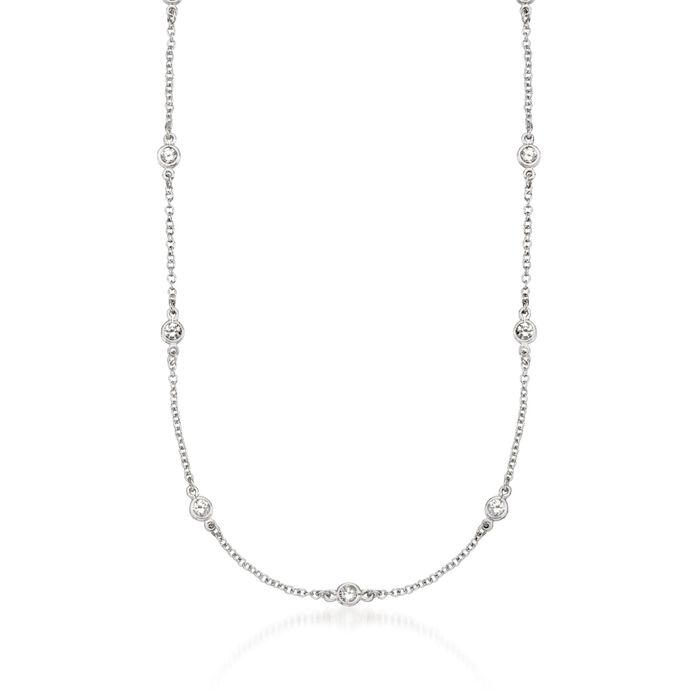 1.00 ct. t.w. CZ Necklace in Sterling Silver, , default