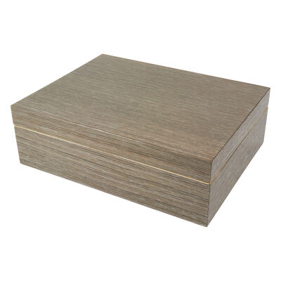 Light Gray Wooden Jewelry Box