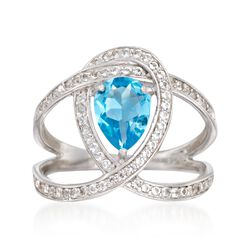 1.80 ct. t.w. Blue and White Topaz Ring in Sterling Silver, , default