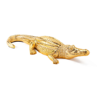 Thompson Ferrier Grand Alligator Gold-Colored Scented Candle, , default