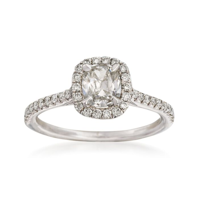 Henri Daussi 1.11 ct. t.w. Diamond Engagement Ring in 18kt White Gold
