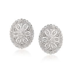 .20 ct. t.w. Diamond Vintage-Style Earrings in Sterling Silver , , default