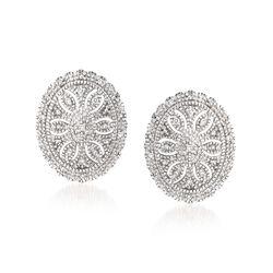 .20 ct. t.w. Diamond Vintage-Style Earrings in Sterling Silver, , default
