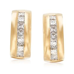 C. 1990 Vintage Tiffany Jewelry 1.74 ct. t.w. Diamond Clip-On Drop Earrings in 18kt Yellow Gold , , default