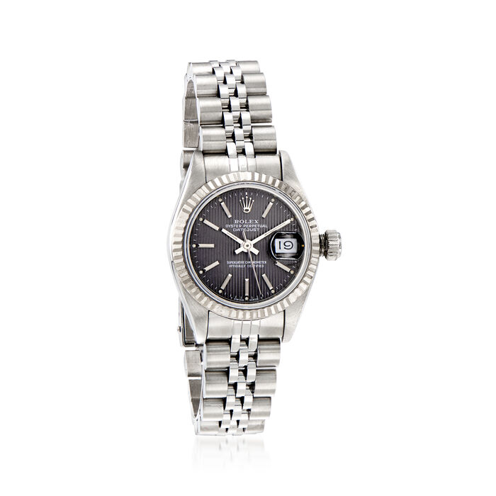 Pre-Owned Rolex Datejust Women's 26mm Automatic Stainless Steel Watch with 18kt White Gold, , default