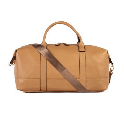 "Brouk & Co. ""Alexa"" Faux Taupe Leather Duffel Bag, , default"