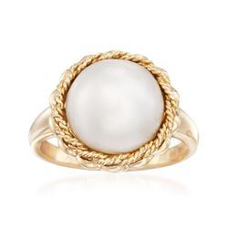 11.5-12mm Cultured Mabe Pearl Ring in 14kt Yellow Gold, , default
