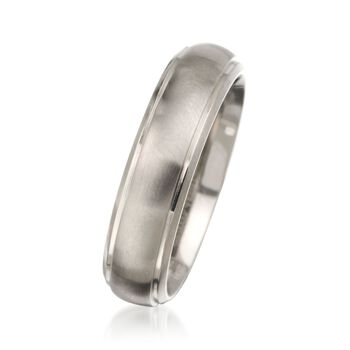 Men's 6mm Titanium Wedding Ring    , , default