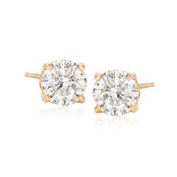 1.25 ct. t.w. Diamond Stud Earrings in 18kt Yellow Gold, , default