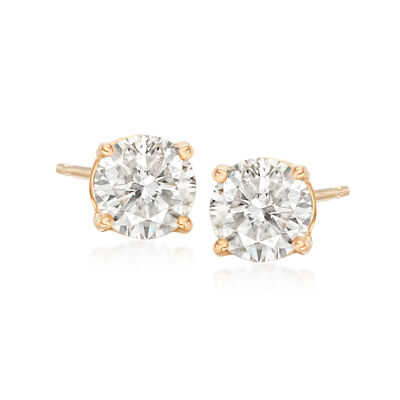 1.20 ct. t.w. Diamond Stud Earrings in 14kt Yellow Gold, , default