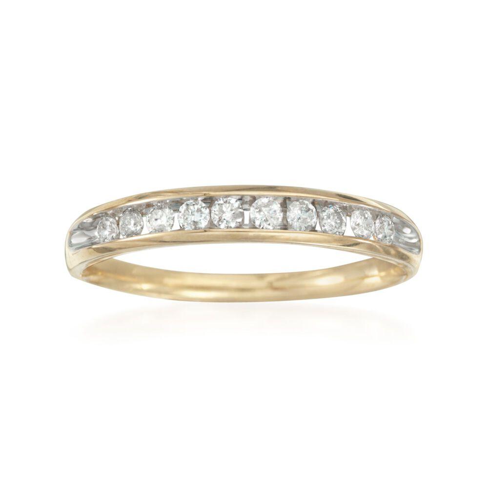 25 ct. t.w. Diamond Wedding Ring in 14kt Yellow Gold | Ross Simons
