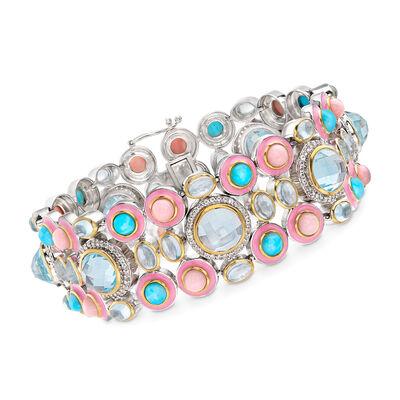Multi-Gemstone Bracelet in Sterling Silver