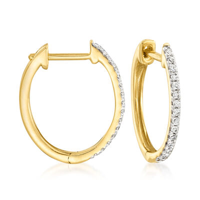 .15 ct. t.w. Diamond Hoop Earrings in 14kt Yellow Gold