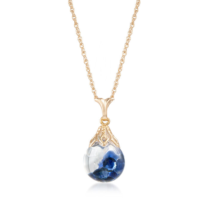.80 ct. t.w. Floating Sapphire Pendant Necklace in 14kt Yellow Gold