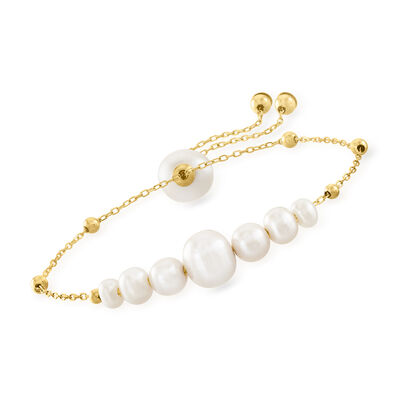 4-9.5mm Cultured Pearl Bolo Bracelet in 14kt Yellow Gold