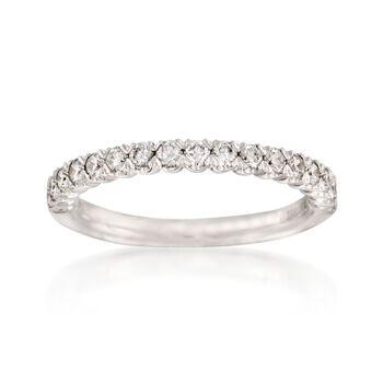 Henri Daussi .45 ct. t.w. Diamond Wedding Band in 14kt White Gold, , default