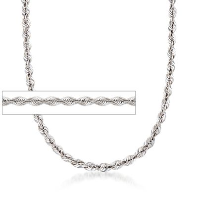 5.8mm Sterling Silver Rope Chain Necklace, , default