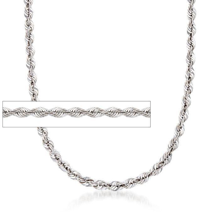 5.8mm Sterling Silver Rope Chain Necklace
