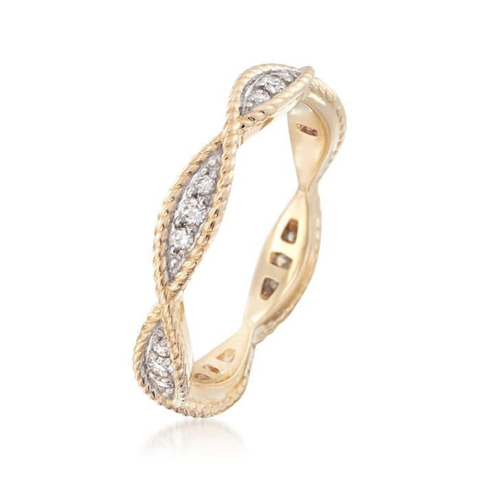 .25 ct. t.w. Diamond Twisted Eternity Band in 14kt Yellow Gold