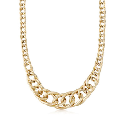 Italian 14kt Yellow Gold Cuban-Link Necklace, , default