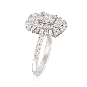 1.16 ct. t.w. Diamond Burst Ring in 18kt White Gold, , default