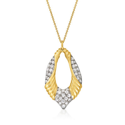 C. 1980 Vintage 1.90 ct. t.w. Diamond Pendant Necklace in 18kt Yellow Gold