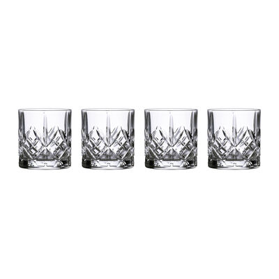 "Marquis by Waterford Crystal ""Maxwell"" Set of 4 Tumbler Glasses from Italy"