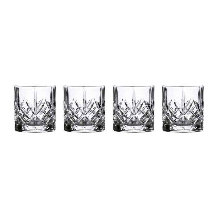 """Marquis by Waterford Crystal """"Maxwell"""" Set of 4 Tumbler Glasses from Italy"""