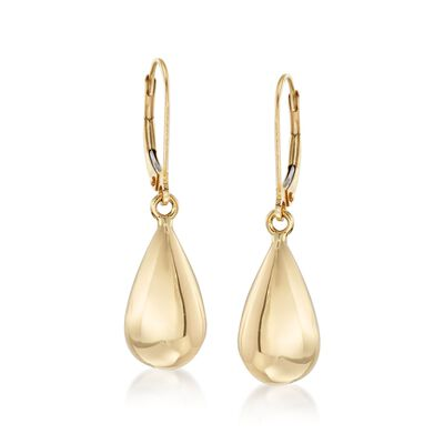 Italian 18kt Yellow Gold Teardrop Earrings