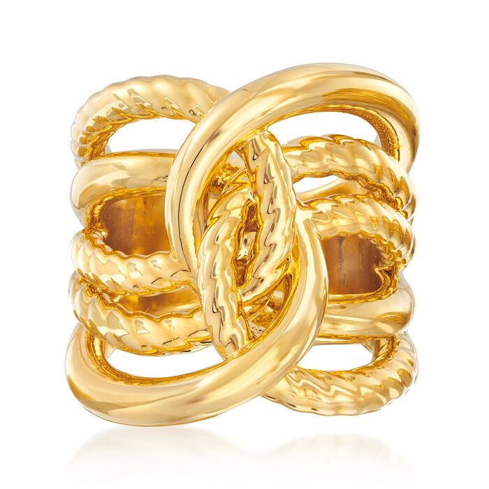 Italian Andiamo 14kt Gold Interlocking Ring