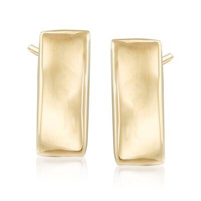 Italian 14kt Yellow Gold Vertical Bar Earrings, , default
