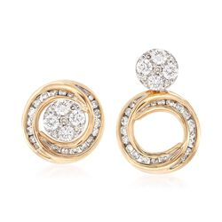 .50 ct. t.w. Diamond Jewelry Set: Stud Earrings and Convertible Earring Jackets in 14kt Yellow Gold, , default