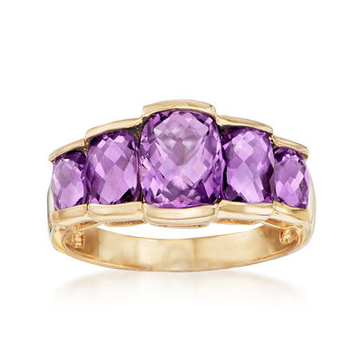 3.20 ct. t.w. Amethyst Ring in 14kt Yellow Gold, , default